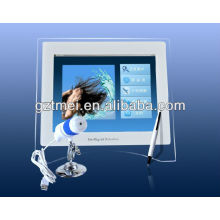 2012 portable home or salon use skin and hair analyzer