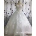 2017 de alta qualidade graciosa Off-ombro de renda vestido de casamento de vestido de bola Appliqued