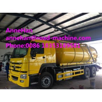 Sinotruk howo7 Camion de pompe d'égout à aspiration sous vide