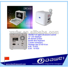 Portable ultrasound for pregnancy with DW360 white and black B mode ultrasound ecografo vacunos