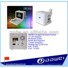 Ultrassonografia portátil para gravidez com ultrassonografia DW360 branco e preto modo B ecografo vacunos