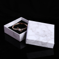 Marble pattern design cardboard jewellery packaging boxes