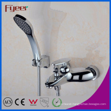 Fyeer Rainfall Bath and Shower Mixer with Handle Shower