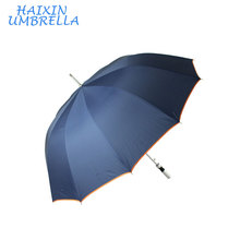 Mult High Quality Customized Aluminium Blue Auto Open Ads Print Straight Cool Golf Umbrella China Manufactures for Summer Sports