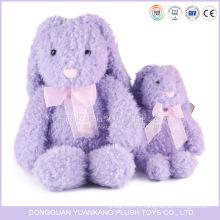 Brinquedo longo roxo do coelho das pernas da boneca animal enchida feita sob encomenda do luxuoso