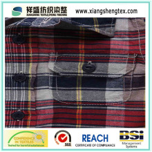 100% Cotton Yarn-Dyed Plaid Fabric for Shirt