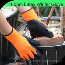 SRSAFETY толстый теплый подгузник лайнер ладонь латекс холодностойкая рабочая перчатка