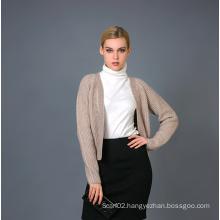 Lady′s Fashion Cashmere Blend Cardigan 17brpv110