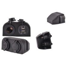 Soquete duplo impermeável do carregador do carro dos portos de USB / soquete do isqueiro do carro / Jack
