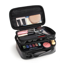 Glanzende PU-waterbestendige make-up tassen cosmetische organisator
