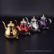 Stainless Steel Europe Style Hand Royal Large Court Water Kettle  /Antique Water Kettle