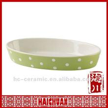 Ceramic cake pan oval, oval pizza pan