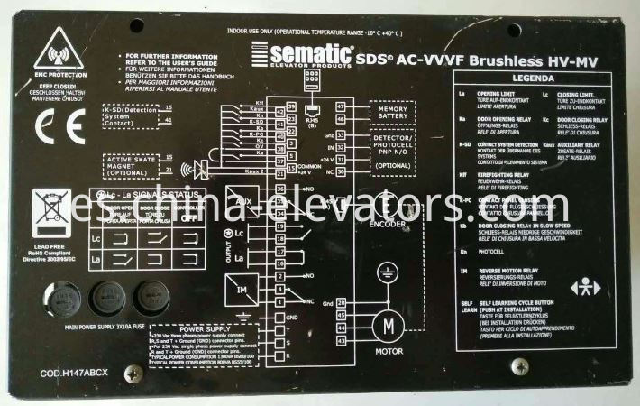 Sematic Car Door Operator Controller for Schindler Elevators 7000