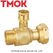 válvula de cierre de latón de junta activa diseñada especialmente