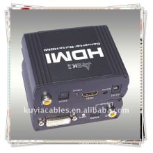 DVI de alta qualidade + SPDIF ao conversor de HDMI