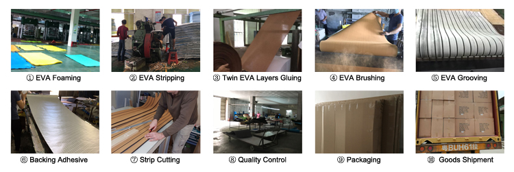 Synthetic Decking Sheet EVA Rv Flooring Non Slip Sheet