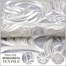 Tela de encaje bordado francés de fiesta al por mayor del diseñador blanco