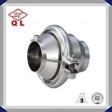 Wenzhou aço inoxidável Ss304 316 2 polegadas Welded Food Grade válvula de retenção sanitária