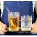 Retro+glass+cups+with+relief+designs