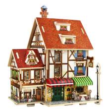 Brinquedos de brinquedos de madeira para casas globais-France Cafe