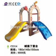 JQC2314 Juegos de niños de plástico / tobogán combinado niños / parque de atracciones
