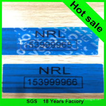 Blue Color Security Void Tape