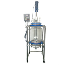 100L  liquid and solid extraction Chemical Glass Filter Reactor Equipment with stainless steel agitator