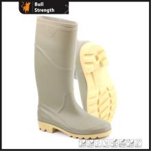 Grey PVC Rain Boots with Steel Toe Cap (Sn5222)