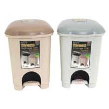 6L Plastic Pedal Dustbin for Home (YW0084)