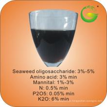 Fertilizante líquido de algas marinhas com aminoácido