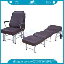 AG-AC008 PU waterproof mattress comfortable patient accompany folding chairs
