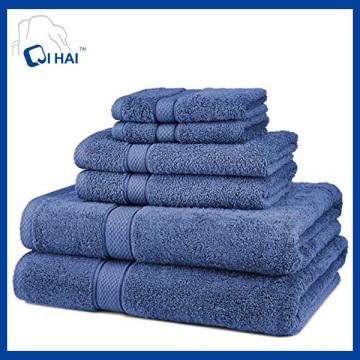 Ensembles de serviettes en satin simples 100% coton (QHB7785)