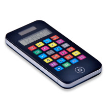 Phone Shape 8 Digit Dual Power Pocket Calculator