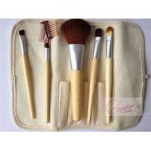 5PCS Бамбуковая ручка для макияжа с мешочком