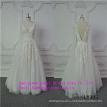 Сексуальная V Шеи Свадебное Платье