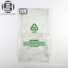 Clear folded pe flat packing bags wholesale