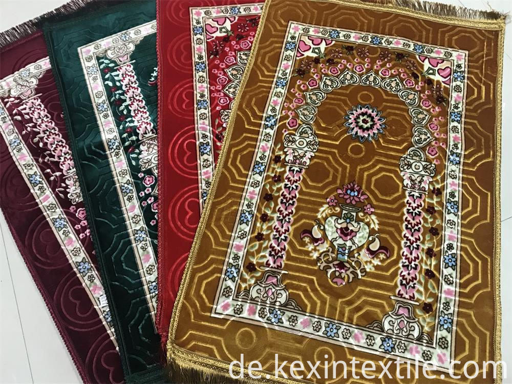 raschel flush prayer rug