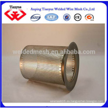 Cesta de filtro hilado de acero inoxidable