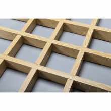 Shopping Mall Heat Insulation aluminum grille ceiling grid tile manufacture