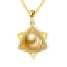 Collier pendentif en forme d'étoile en forme de perle naturelle avec chaîne
