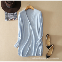 Cashmere sweater women cardigan 100% cashmere snow idea tweed yarn cardigan V neck