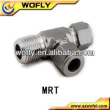 T macho de alta qualidade para montagem em tubo de aço inoxidável