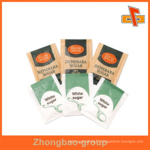 Customized printed paper sachet for sugar packaging