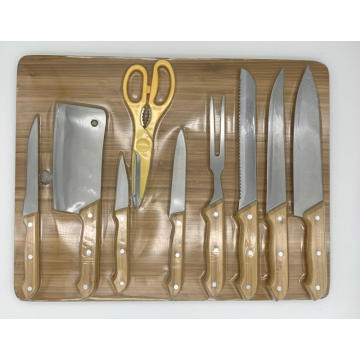 10pcs cuisine kinfe board set
