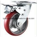 Roulé / pivotant sur roulette en fonte et en rouleau lourd