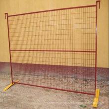 Clôture de sécurité en plastique orange