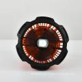Soporte de luz LED Carga de batería Ventilador solar para acampar