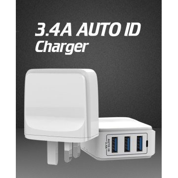 Chargeur mural 3 ports USB Charger 3.4A Universal