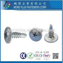 Taiwan Stainless Steel Philip K-LATH Head Wafer Head Button Head Tek screw Self Drilling Screws