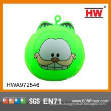 Divertido parpadeante bola esponjoso iluminar bola de soplador de animales